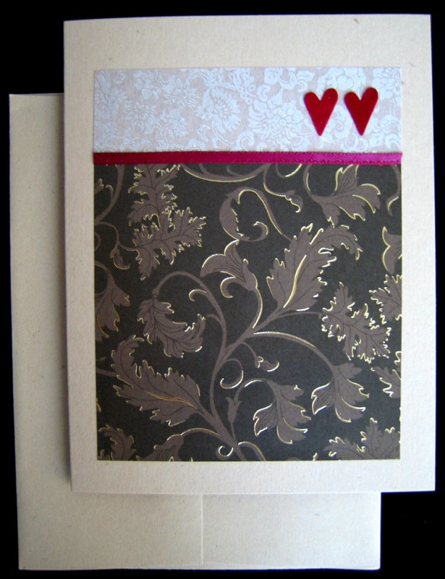 double heart folded card