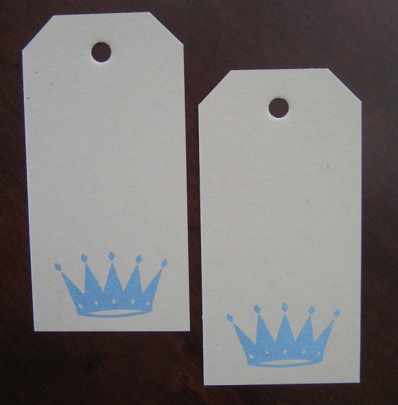 gift tags: crowns