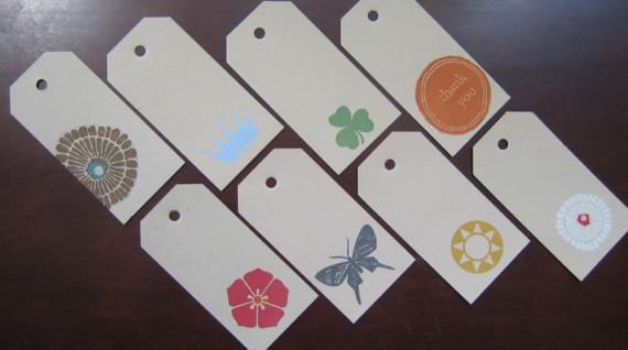 gift tags: set